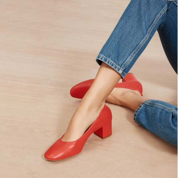 Everlane Shoes - Everlane The Day Heel in Bright Red, New!